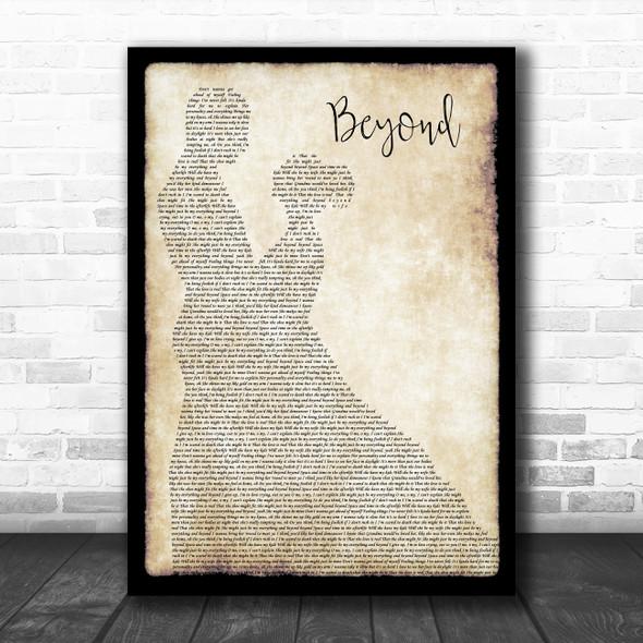 Leon Bridges Beyond Man Lady Dancing Song Lyric Poster Print
