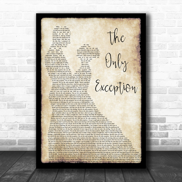 Paramore The Only Exception Man Lady Dancing Song Lyric Poster Print