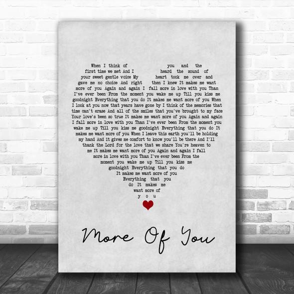Chris Stapleton More Of You Grey Heart Song Lyric Poster Print