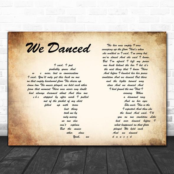 Brad Paisley We Danced Man Lady Couple Song Lyric Poster Print