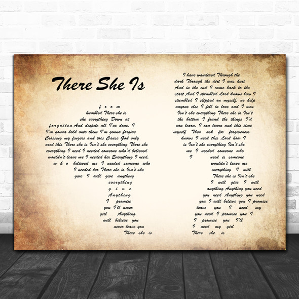 Frank Turner There She Is Man Lady Couple Song Lyric Poster Print