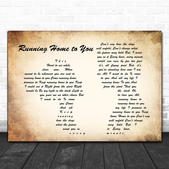 Grant Gustin Running Home to You Man Lady Couple Song Lyric Poster Print