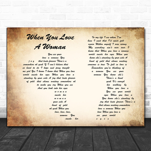Journey When You Love A Woman Man Lady Couple Song Lyric Poster Print