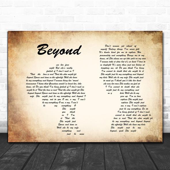 Leon Bridges Beyond Man Lady Couple Song Lyric Poster Print