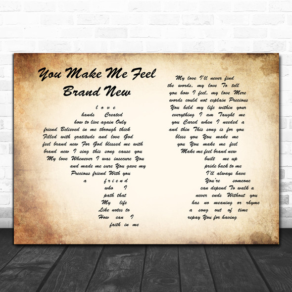 Simply Red You Make Me Feel Brand New Man Lady Couple Song Lyric Poster Print