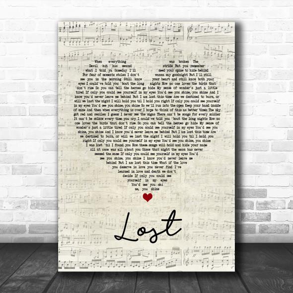 Dermot Kennedy Lost Script Heart Song Lyric Poster Print