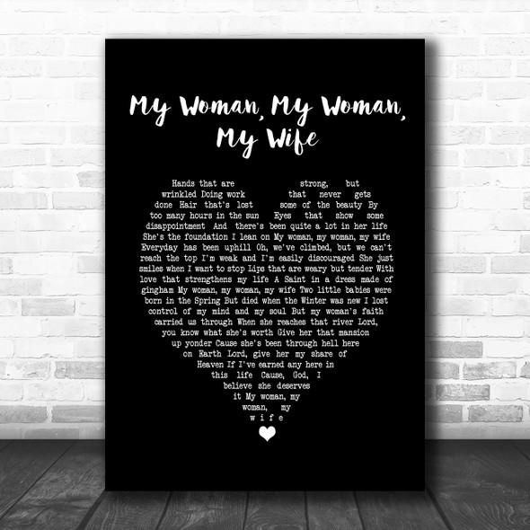 Dean Martin My Woman, My Woman, My Wife Black Heart Song Lyric Music Poster Print