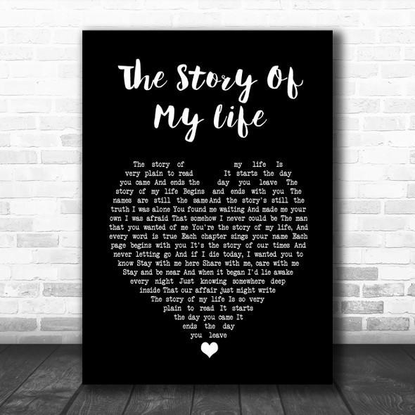 Neil Diamond The Story Of My Life Black Heart Song Lyric Music Poster Print