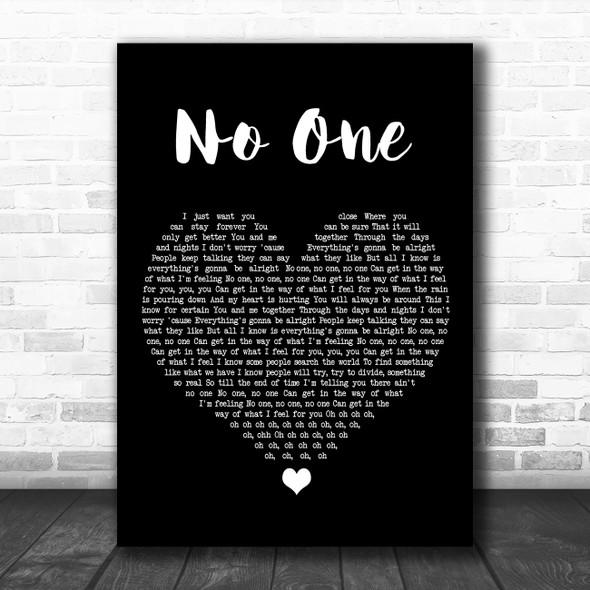 Alicia Keys No One Black Heart Song Lyric Music Poster Print