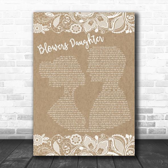 Damien Rice Blowers Daughter Burlap & Lace Song Lyric Music Poster Print