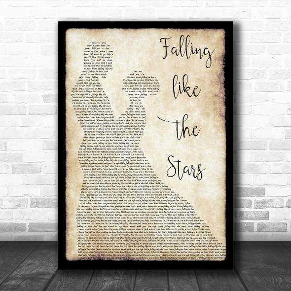 James Arthur Falling like the Stars Man Lady Dancing Song Lyric Music Poster Print