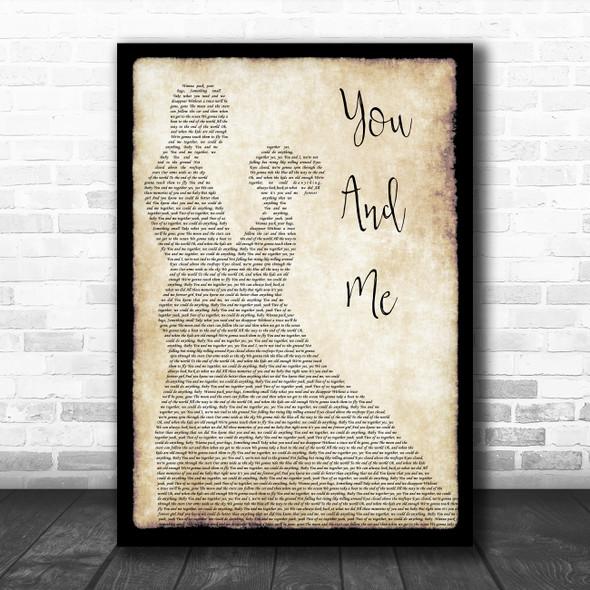 Dave Matthews Band You And Me Man Lady Dancing Song Lyric Music Poster Print