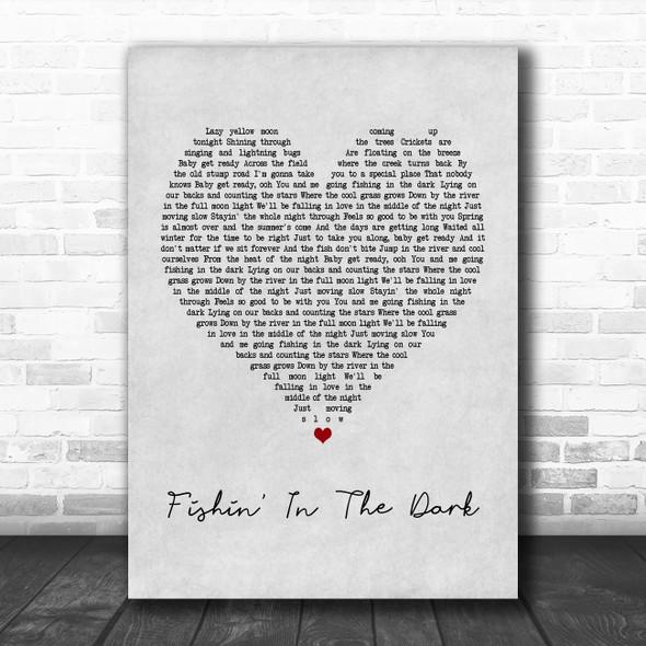 Nitty Gritty Dirt Band Fishin' In The Dark Grey Heart Song Lyric Music Poster Print
