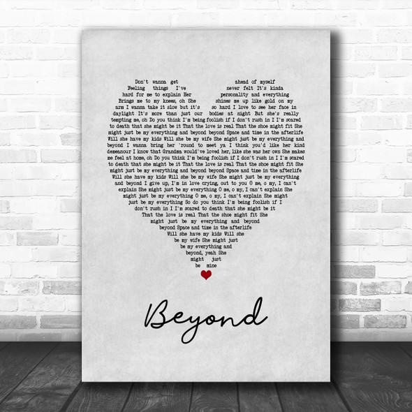 Leon Bridges Beyond Grey Heart Song Lyric Music Poster Print