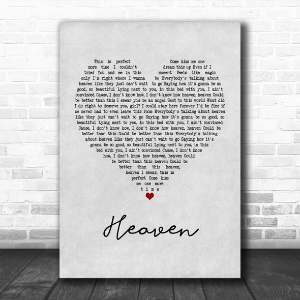 Kane Brown Heaven Grey Heart Song Lyric Music Poster Print