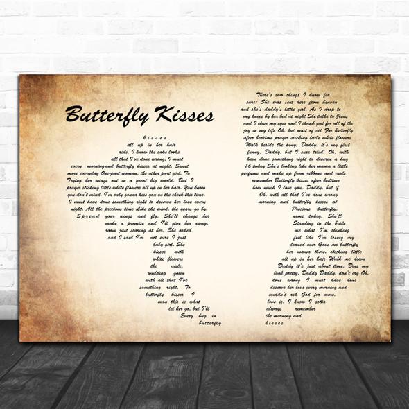 Bob Carlisle Butterfly Kisses Man Lady Couple Song Lyric Music Poster Print