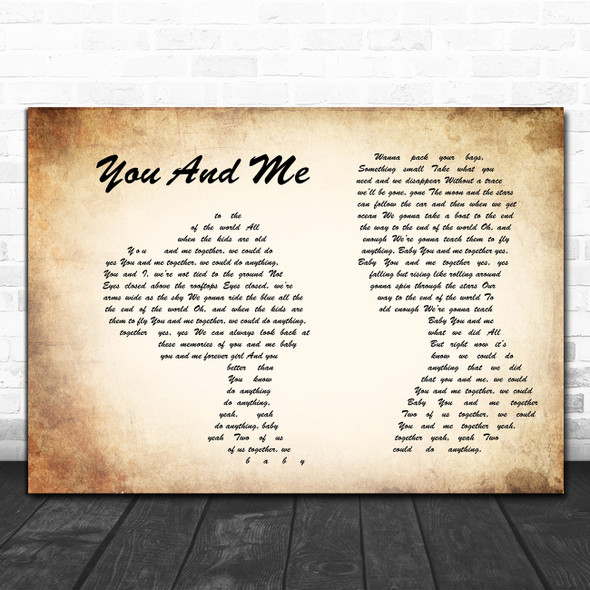 Dave Matthews Band You And Me Man Lady Couple Song Lyric Music Poster Print
