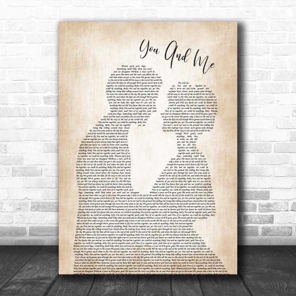 Dave Matthews Band You And Me Man Lady Bride Groom Wedding Song Lyric Music Poster Print