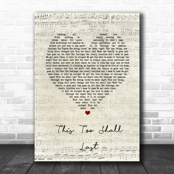 Anderson East This Too Shall Last Script Heart Song Lyric Music Poster Print