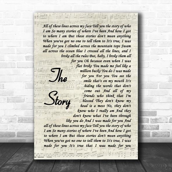 Brandi Carlile The Story Vintage Script Song Lyric Music Poster Print