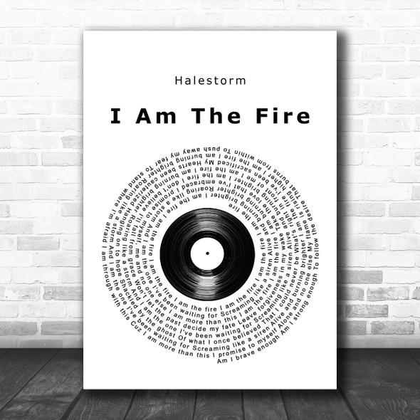 Halestorm I Am The Fire Vinyl Record Song Lyric Music Poster Print