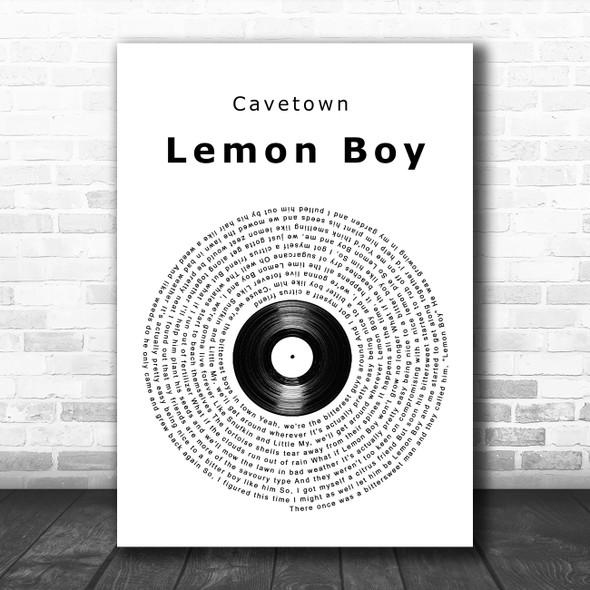 Cavetown Lemon Boy Vinyl Record Song Lyric Music Poster Print