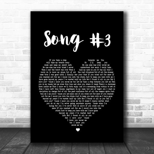 Stone Sour Song 3 Black Heart Song Lyric Music Wall Art Print