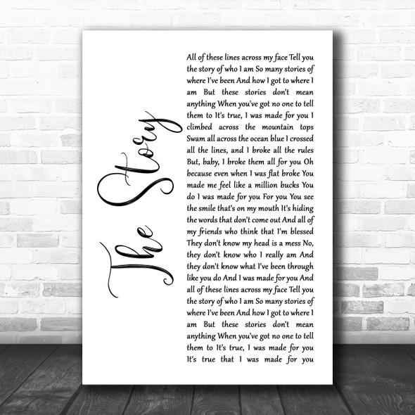 Brandi Carlile The Story White Script Song Lyric Music Poster Print