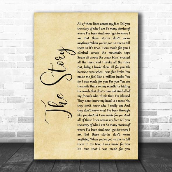 Brandi Carlile The Story Rustic Script Song Lyric Music Poster Print