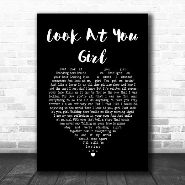 Chris LeDoux Look At You Girl Black Heart Song Lyric Print