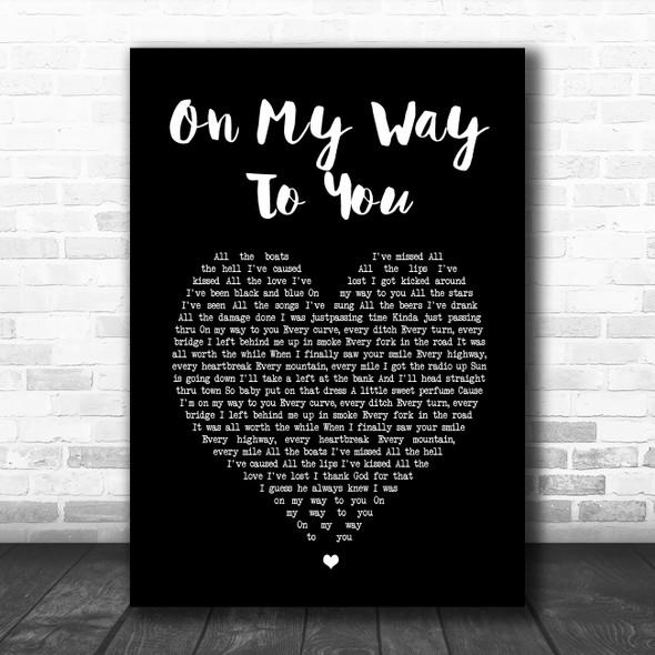 Cody Johnson On My Way To You Black Heart Song Lyric Print