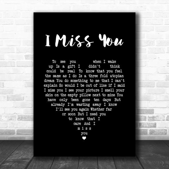 Incubus I Miss You Black Heart Song Lyric Print