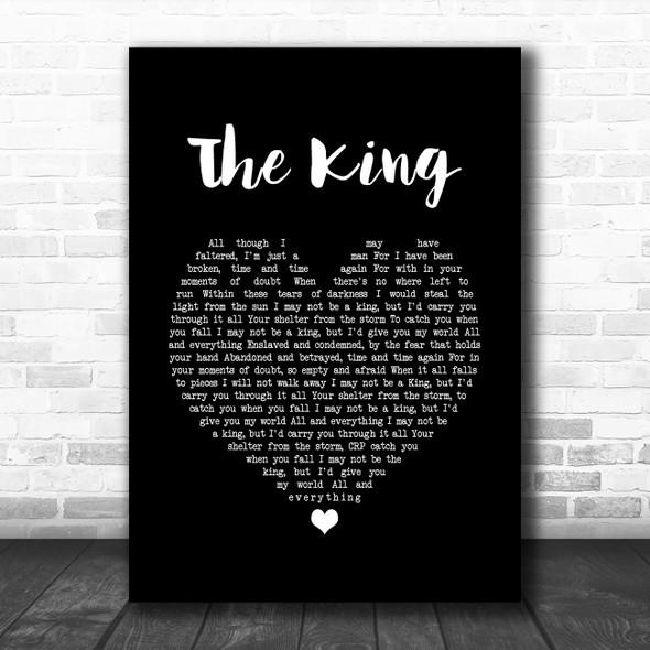 Zakk Wylde The King Black Heart Song Lyric Print