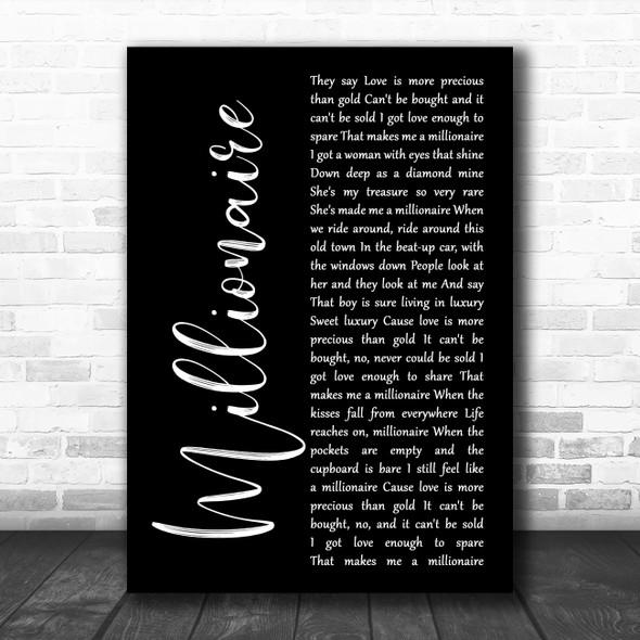 Chris Stapleton Millionaire Black Script Song Lyric Print