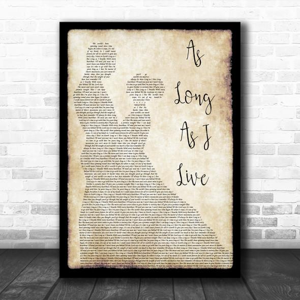 John Michael Montgomery As Long As I Live Man Lady Dancing Song Lyric Print