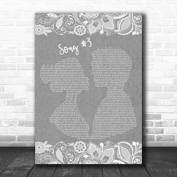 Stone Sour Grey Song 3 Burlap & Lace Grey Song Lyric Quote Print