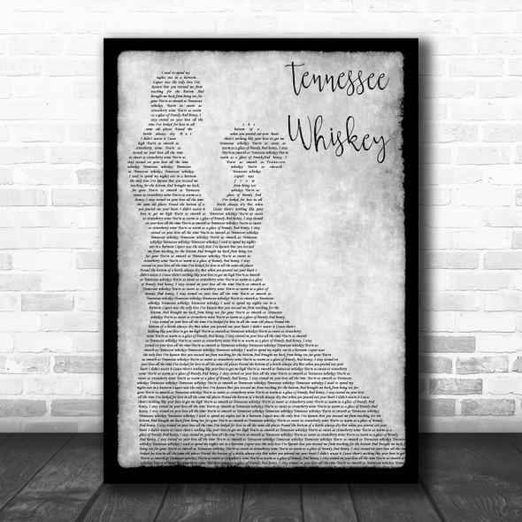 Chris Stapleton Tennessee Whiskey Man Lady Dancing Grey Song Lyric Print