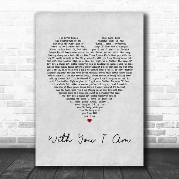 Cody Johnson With You I Am Grey Heart Song Lyric Print