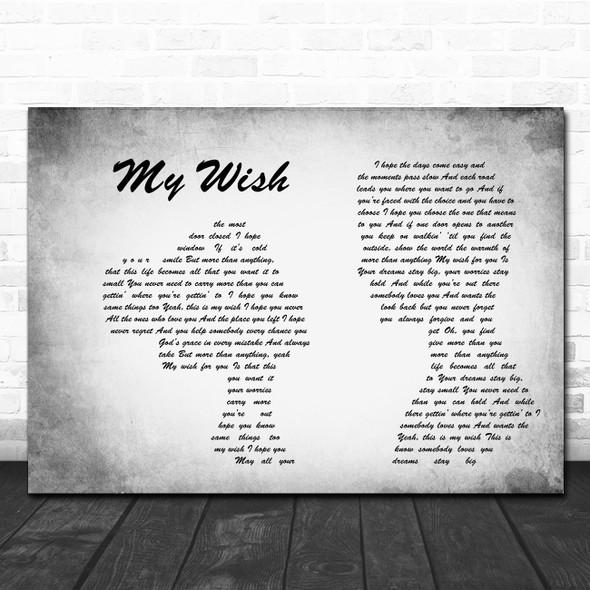 Rascal Flatts My Wish Man Lady Couple Grey Song Lyric Quote Print