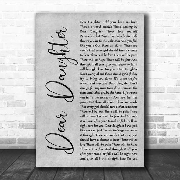 Halestorm Dear Daughter Rustic Script Grey Song Lyric Quote Print
