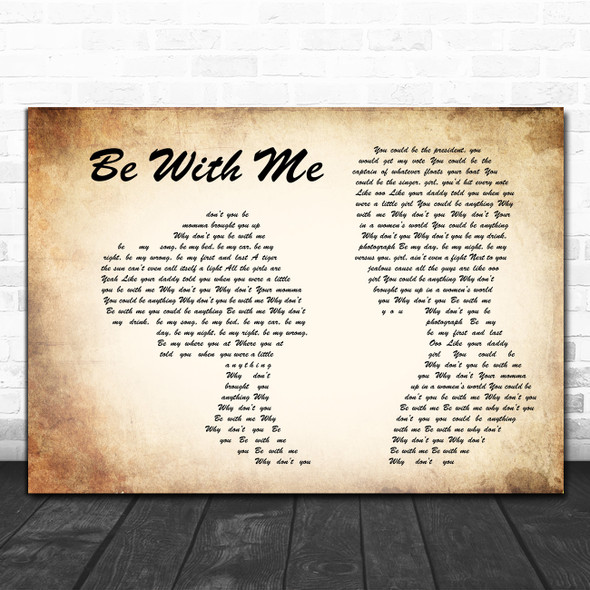 Old Dominion Be with Me Man Lady Couple Song Lyric Print