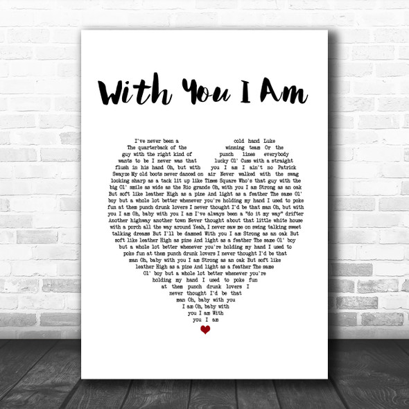 Cody Johnson With You I Am White Heart Song Lyric Print