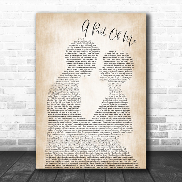 Neck Deep A Part Of Me Man Lady Bride Groom Wedding Song Lyric Quote Music Print
