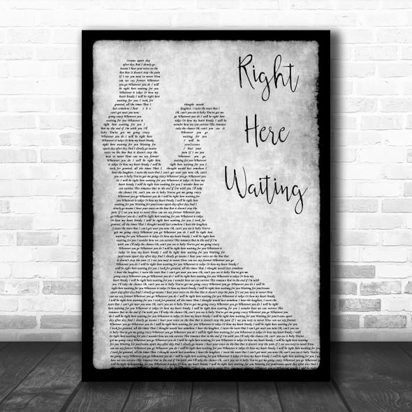 Richard Marx Right Here Waiting Grey Man Lady Dancing Song Lyric Quote Music Print