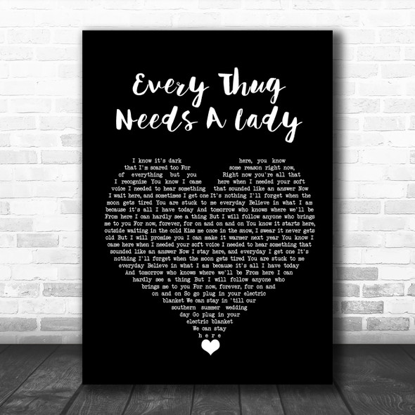 Alkaline Trio Every Thug Needs A Lady Black Heart Song Lyric Quote Music Print