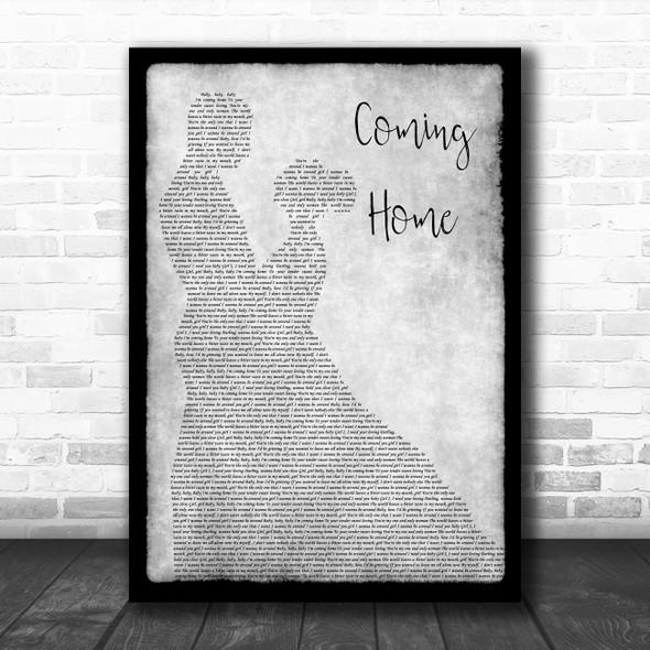 Leon Bridges Coming Home Grey Man Lady Dancing Song Lyric Quote Music Print