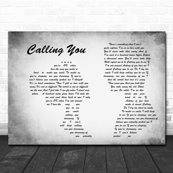 Blue October Calling You Man Lady Couple Grey Song Lyric Quote Music Print