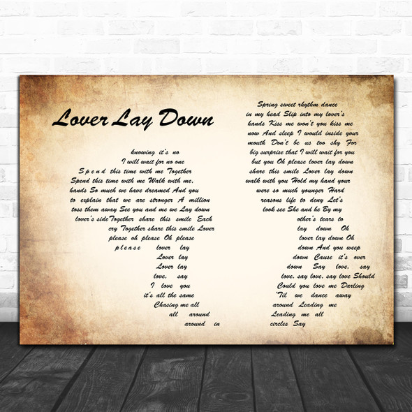 Dave Matthews Band Lover Lay Down Man Lady Couple Song Lyric Quote Music Print