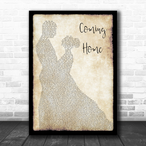 Leon Bridges Coming Home Man Lady Dancing Song Lyric Quote Music Print