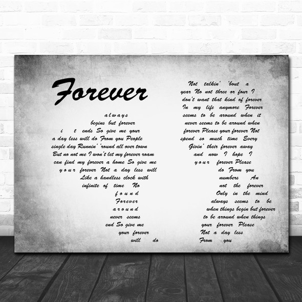 Ben Harper Forever Man Lady Couple Grey Song Lyric Quote Music Print